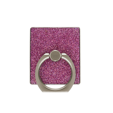 pink glitter phone finger ring