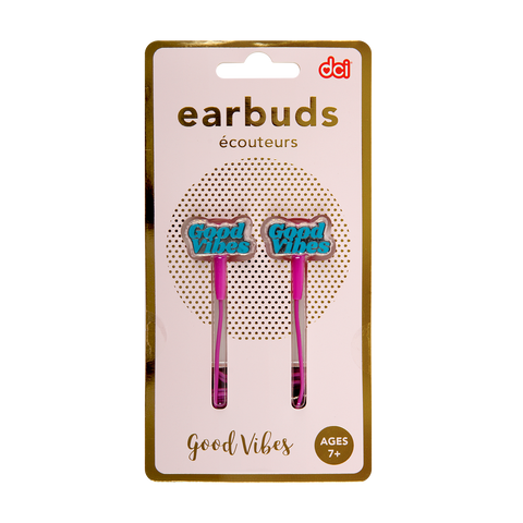 good vibes earbuds packaging