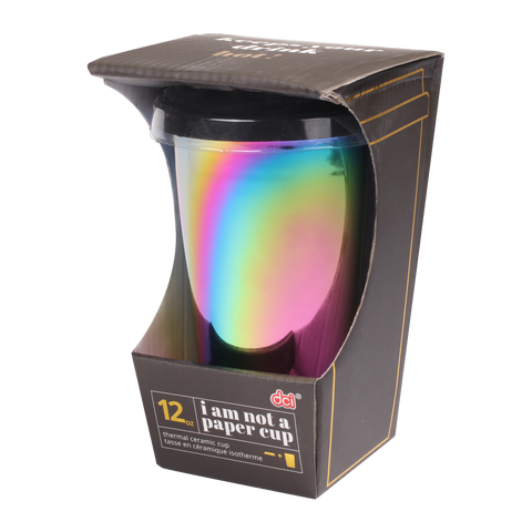 rainbow luster ianapc tumbler inside a packaging