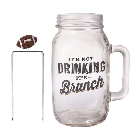 Bloody Mary Mason Jar with Football Skewer