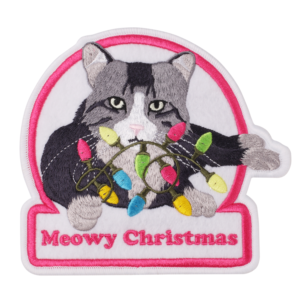 Meowy Christmas Sweater.Meowy Christmas Led Ugly Sweater Patch