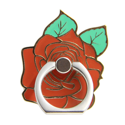silver ring rose mobile ring