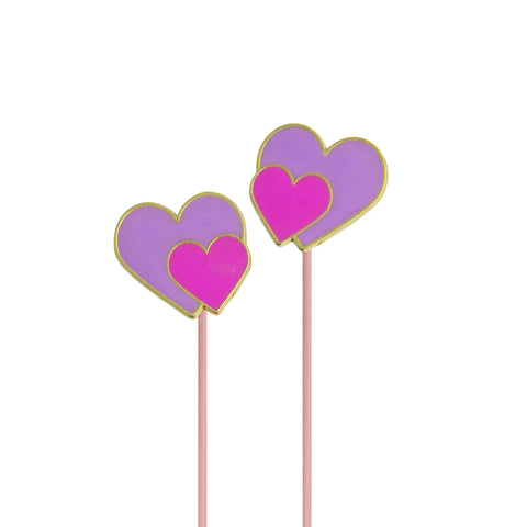 two hearts earbuds