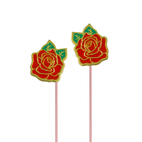 red rose earbuds