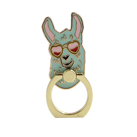 llama phone ring holder
