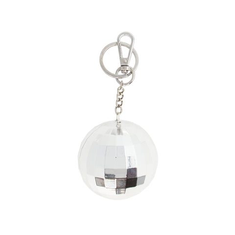 silver disco ball power bank