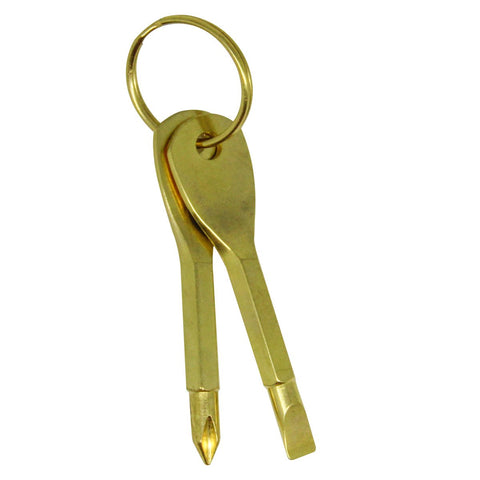 Gold Travel Tools Keychain