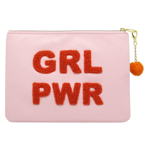Chenille Pouch: GRL PWR
