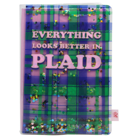 Floating Glitter Journal: Plaid