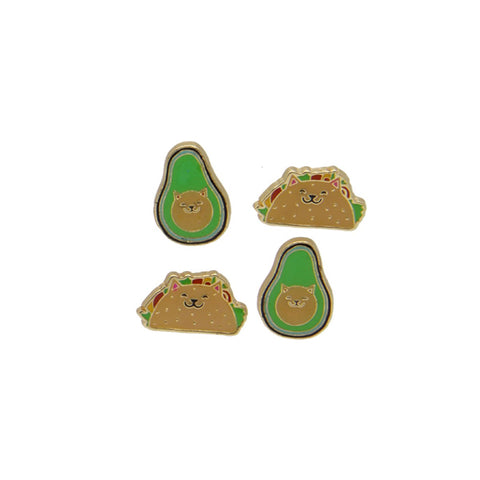 Enamel Magnets: Cat Taco