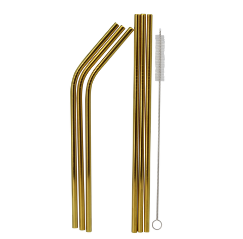 Gold Metal Straws