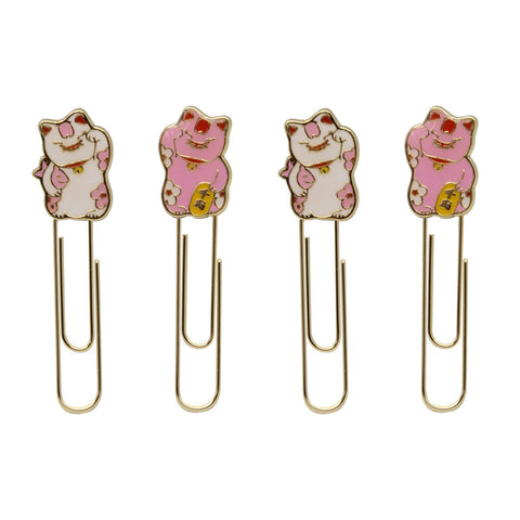 Enamel Paperclips: Lucky Cat