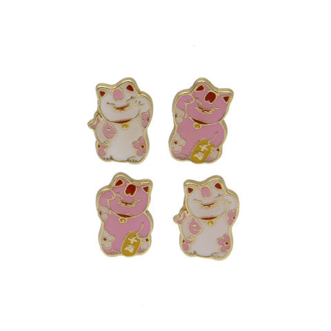 Enamel Magnets: Lucky Cat