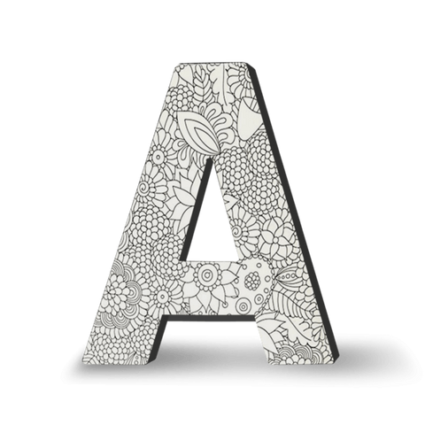 coloring art block letter home decor