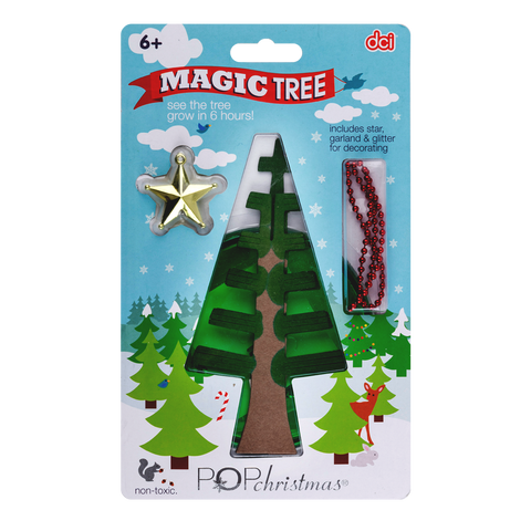 magic growers christmas tree cardboard inside its packaging