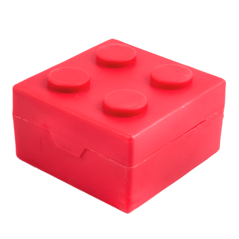 red building block pill box