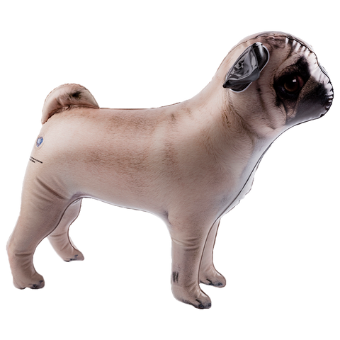 side view inflatable pet pug