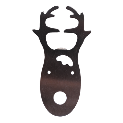 stainless reindeer bottle opener