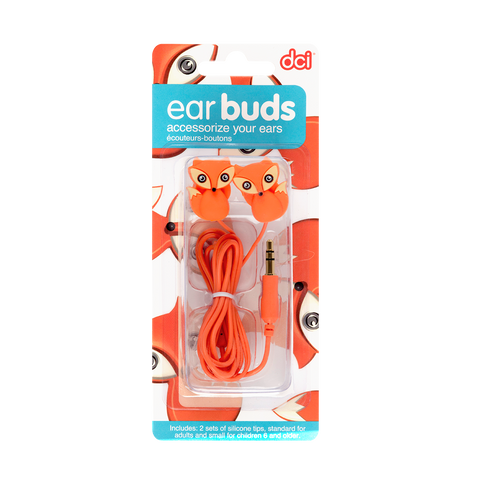 fox earbuds in its packaging