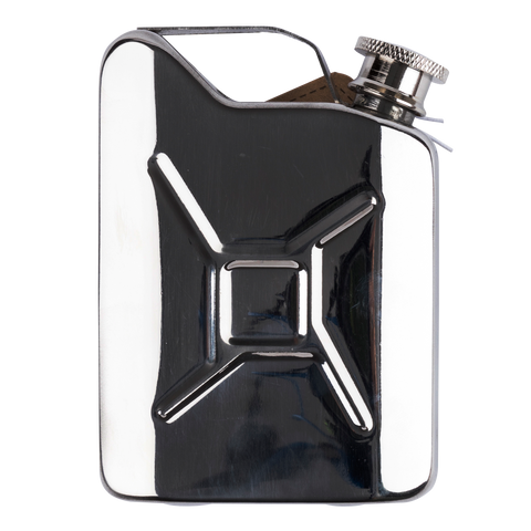 side view of fuel flask