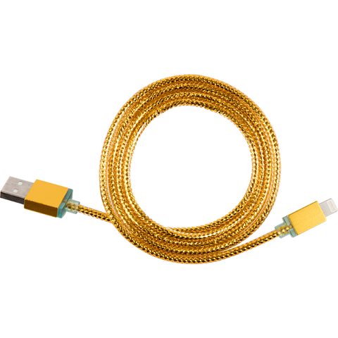 gold glimmer usb cable for iphone