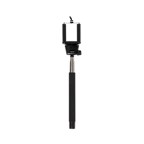 black bluetooth selfie stick