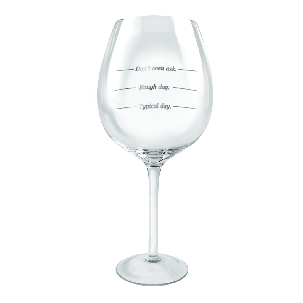 fc42cf743e9 XL Wine Glass WINE-ISM - Typical Day