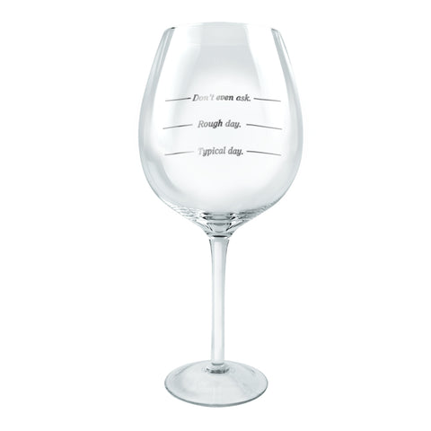 XL Wine Glass WINE-ISM - Typical Day