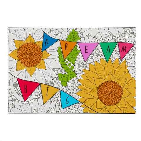 coloring block wall art frame