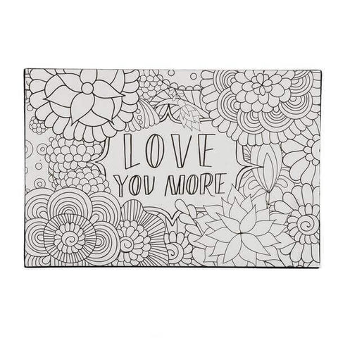Love you more coloring block wall frame