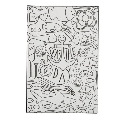 seas the day coloring art block