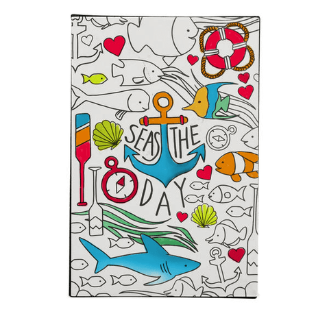 seas the day coloring wall art