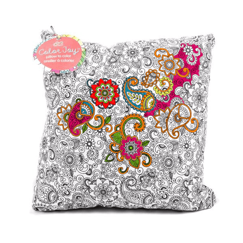 color joy coloring throw pillow