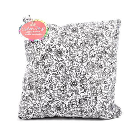 adult coloring throw pillow oasis