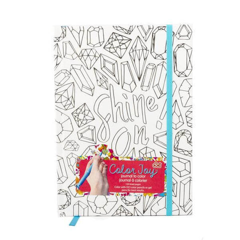 shine on themed journal with a coloring page cover