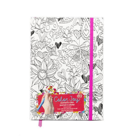 flowers design coloring page journal