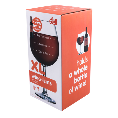 xl wine-ism wine glass typical day packaging