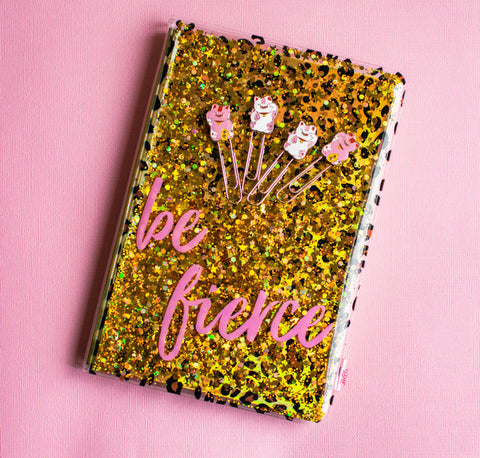 Floating Glitter Journal: Be Fierce