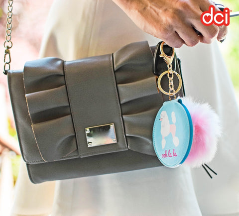 Keychain Compact Mirror: Poodle