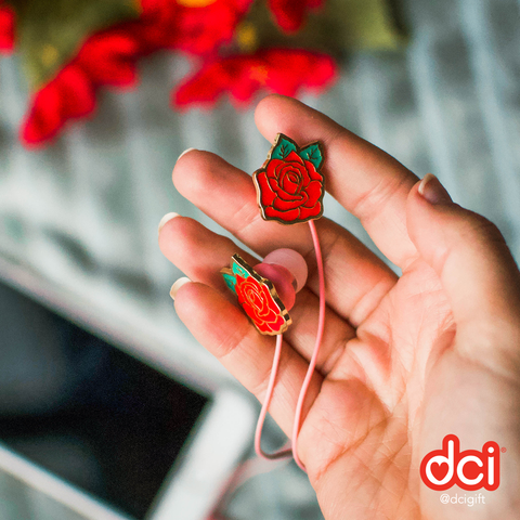 Angled Earbuds: Rose