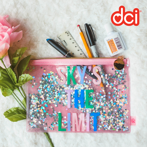Floating Glitter Pouch: Sky's The Limit