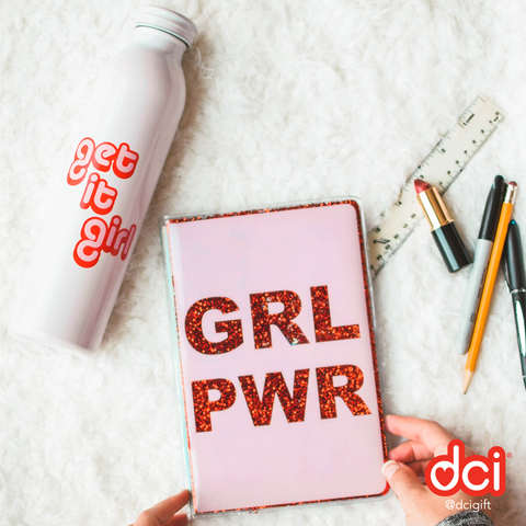 Floating Glitter Journal: GRL PWR