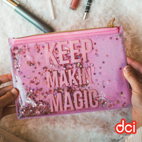 Floating Glitter Pouch: Keep Makin' Magic