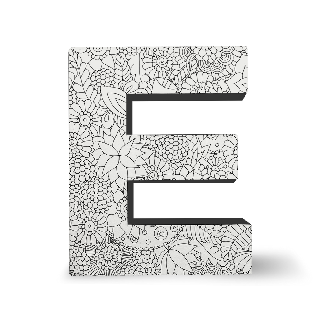 color joy coloring block letters letter e dci gift