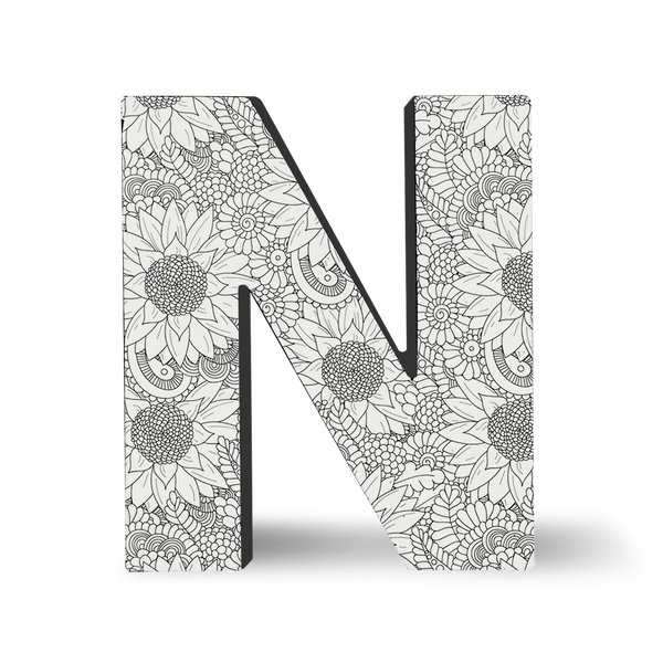 block letter n color block letters n dci gift 36859