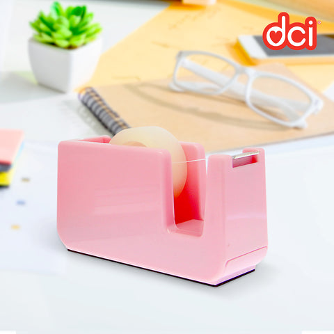 pink color block sticky tape holder