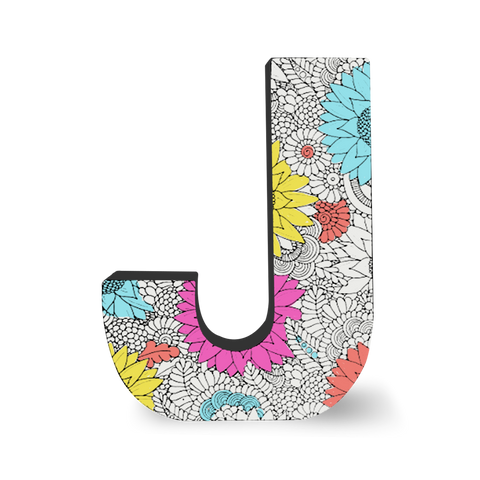 Color Joy Block Letters - J