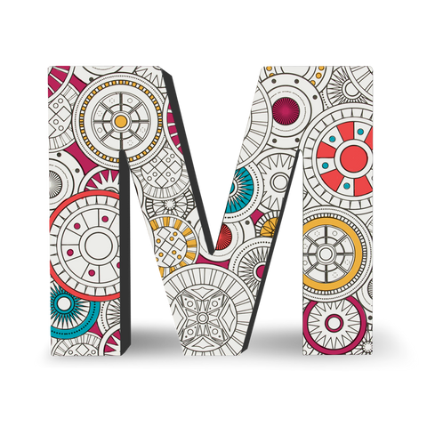 Color Joy Block Letters - M