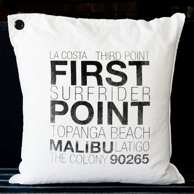 East Malibu Canvas Pillow