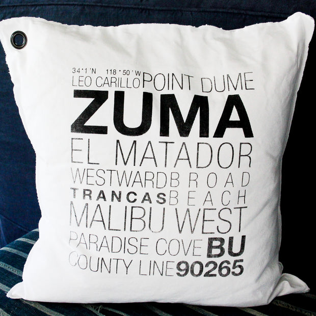 West Malibu Canvas Pillow